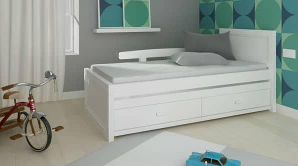 מיטת ילדים מעץ מלא - דגם אור - רהיטי ברזילי